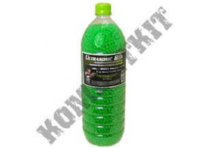 KOMBATKIT: Ultrasonic Clear Green Polished Airsoft Ammo BB Gun Pellets